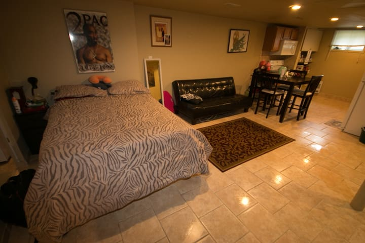 5 min to U of W Bachelor Apartment - Windsor - Appartement