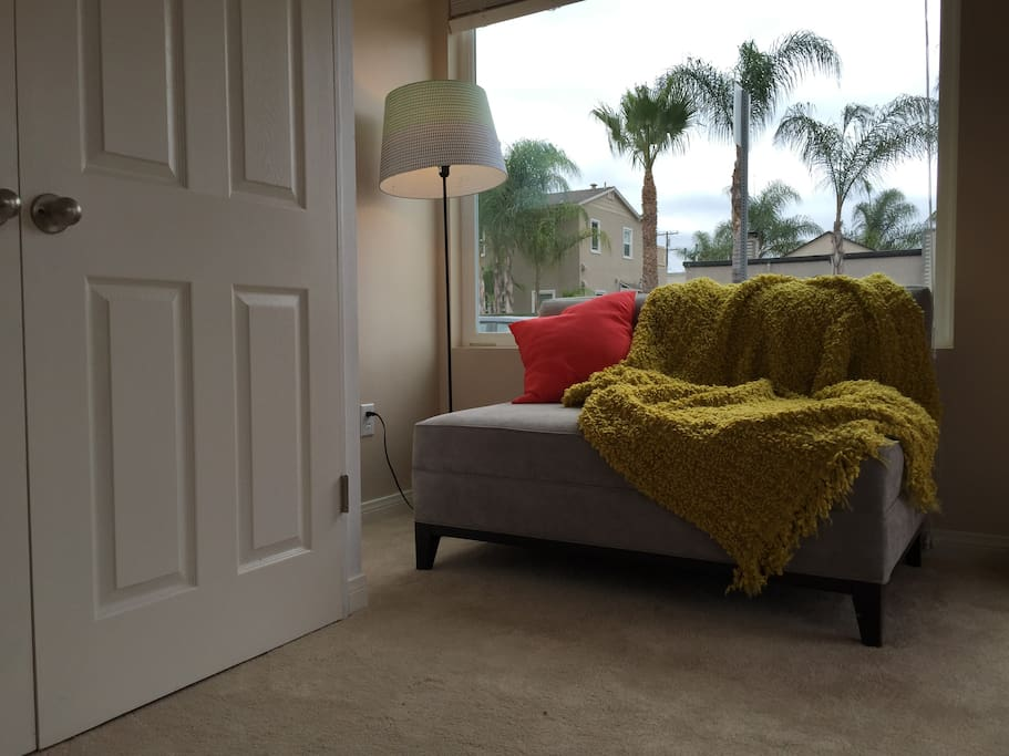 Settee overlooking the palm trees!