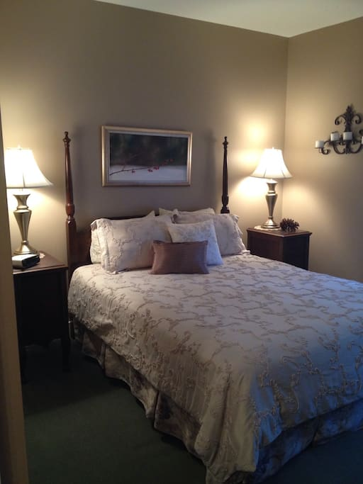 Queen bedroom, first floor, AC, wi-fi, private bath