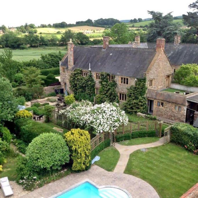 Beautiful countryside surrounds this wonderful old Manor House