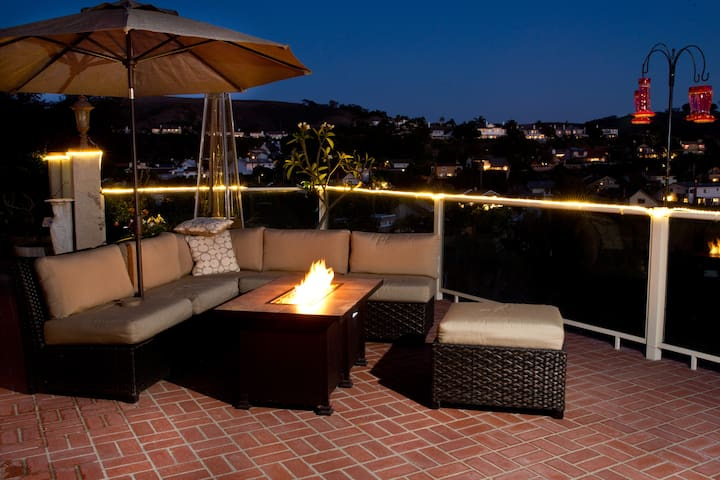 Poolside Fire Table