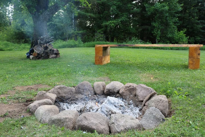 Fire pit for backyard campfires.
