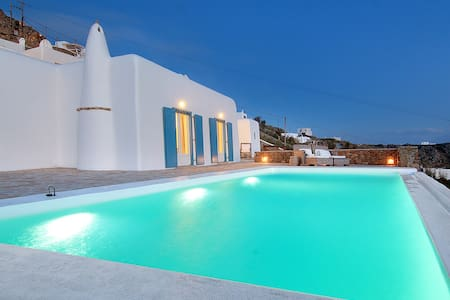 Majestic Villa Katerina (3Bed-Pool-Seaview) - Míkonos