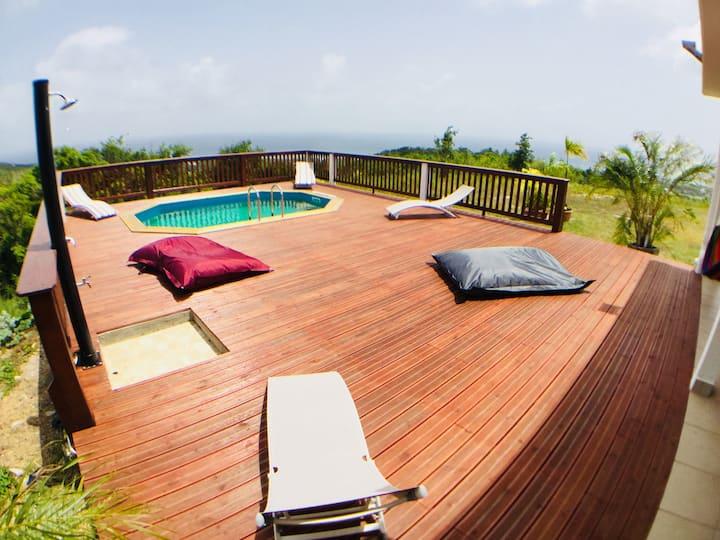 Villa écologique classée 3* Vue mer piscine privée