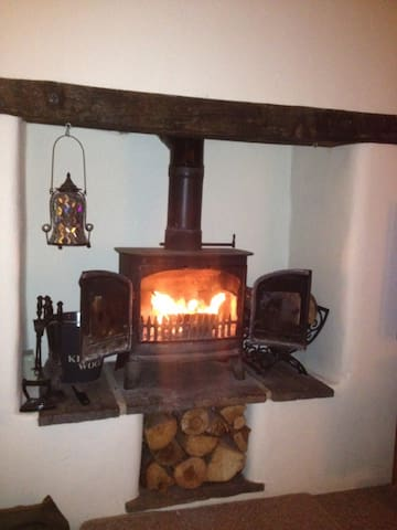 our log burner in the front room