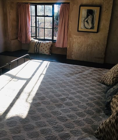 Bedroom is lovely and light, great for a nap in the sun (there are also black out curtains)