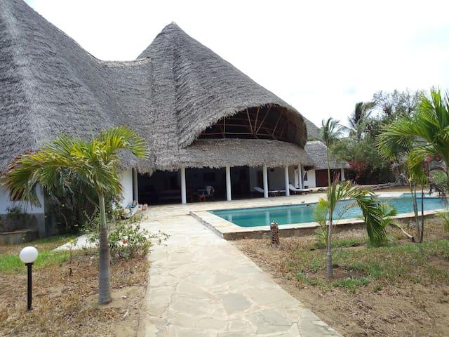 spacious pool and villa