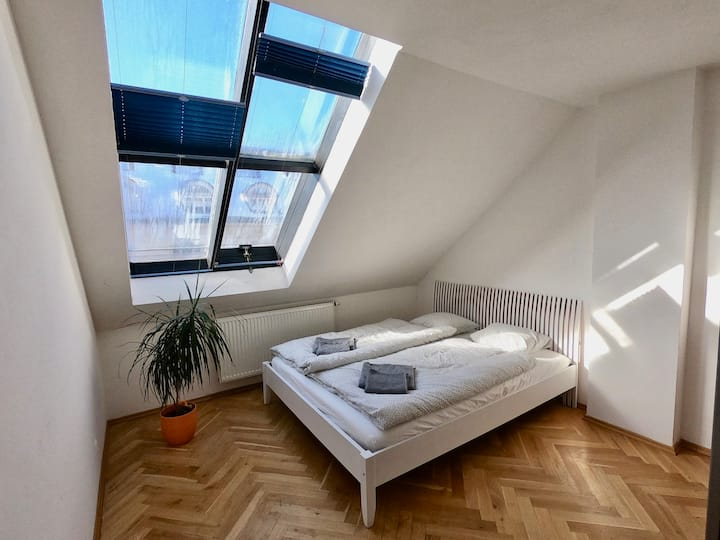 Sunny maisonette with terrace and amazing view