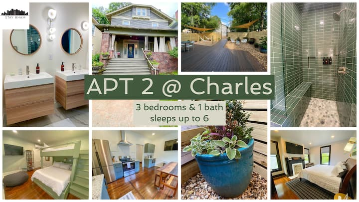 Apt2@Charles - Beautifully Restored, Walkable, Pet-Friendly 3BR with AMAZING Grounds