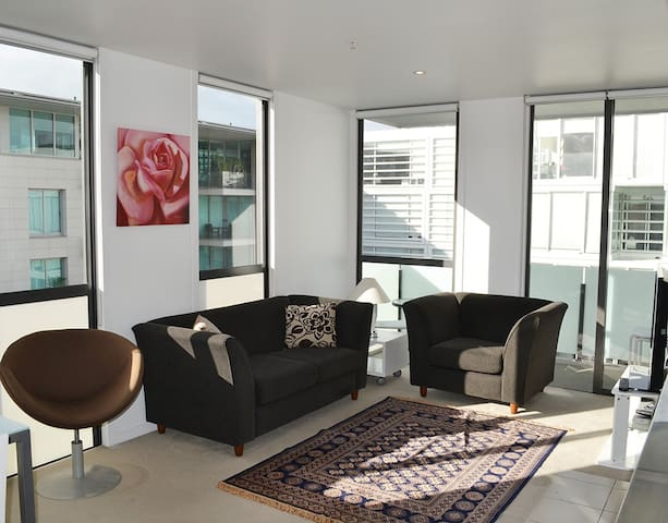 Viaduct Harbour City 2Br top floor with parking.