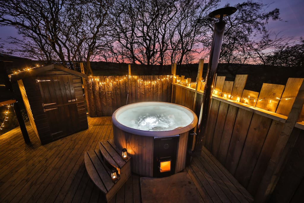 Woodfired hot tub