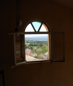 Maison de village,terrasse avec vue - Mormoiron
