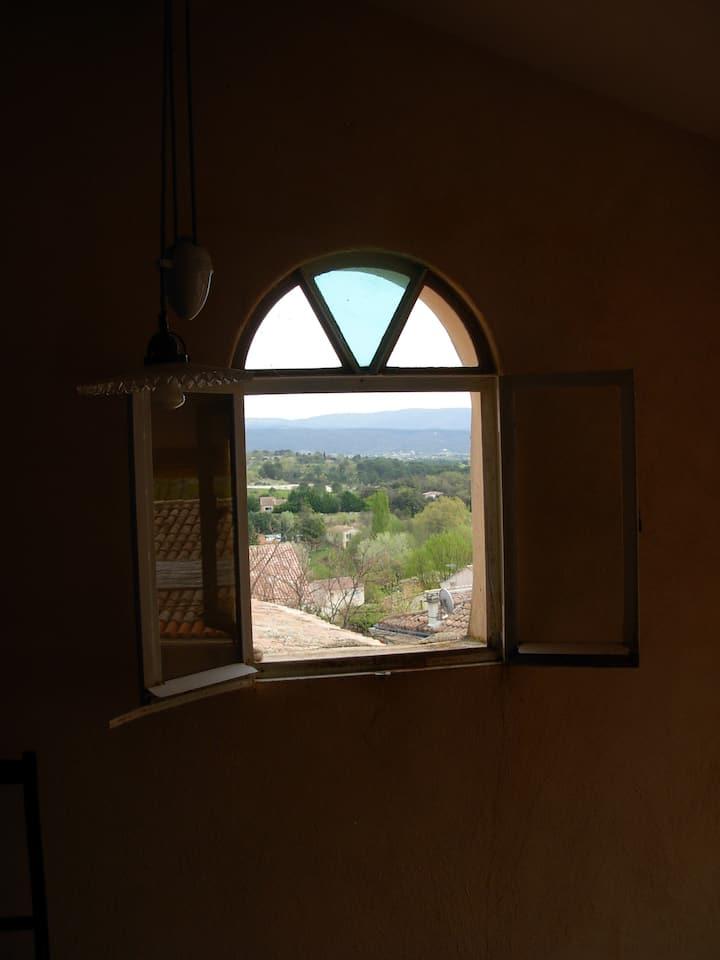 Maison de village, terrasse avec vue