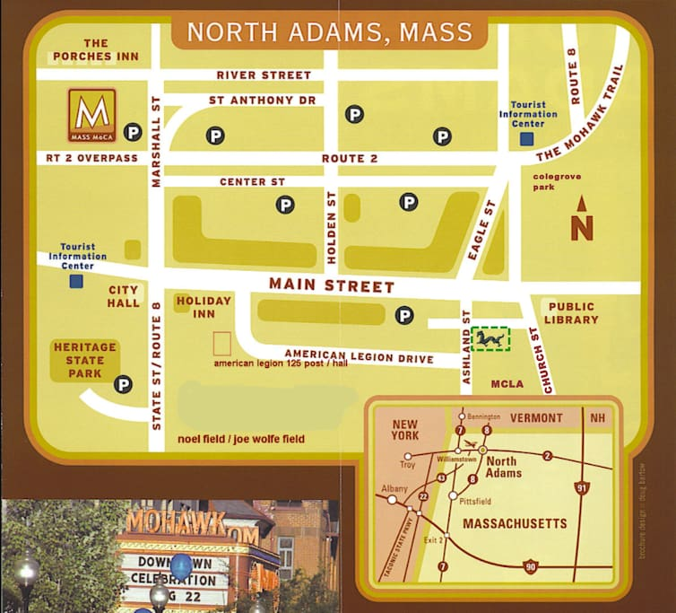 Downtown North Adams Map