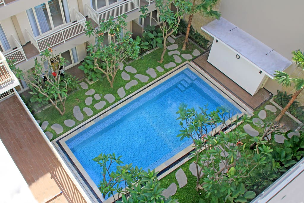 Pool view from 3 level room