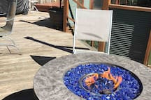 Fire table, BBQ & hot tub make this deck experience relaxing & doubles your square footage of space to relax  & take in the serene setting!