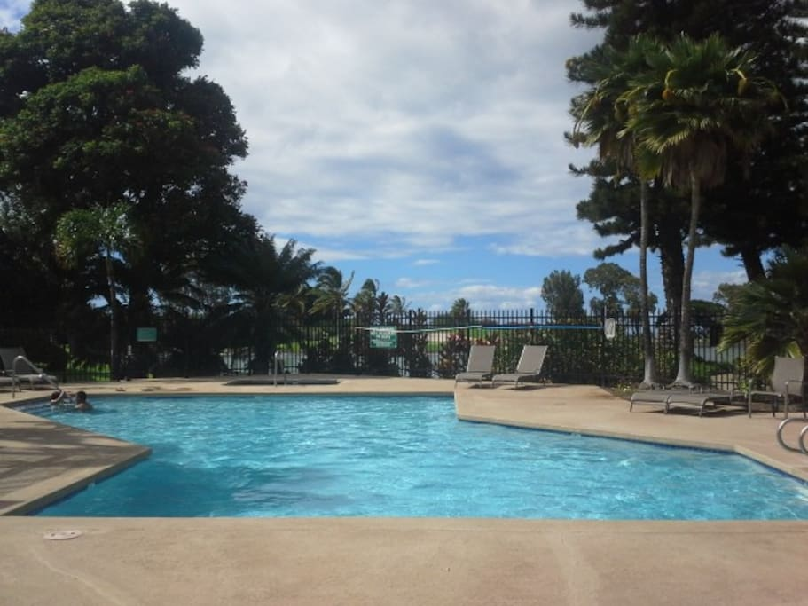 One of two pool areas