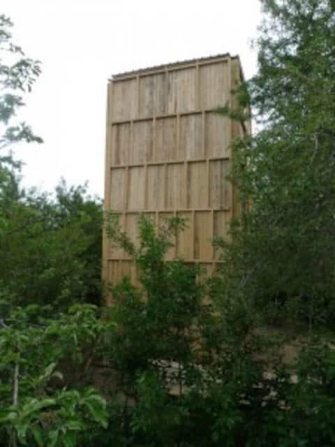Tower in mountain village Issyk-Kul