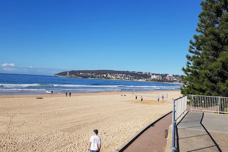 Perfect Manly Beach family escape opposite park