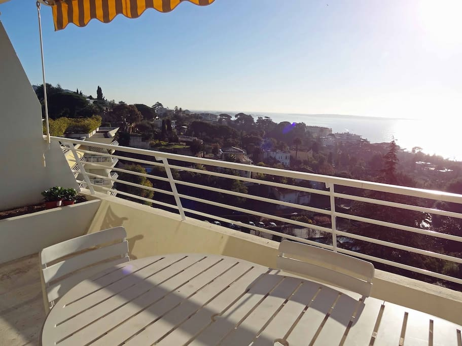 Spacious balcony with sea view