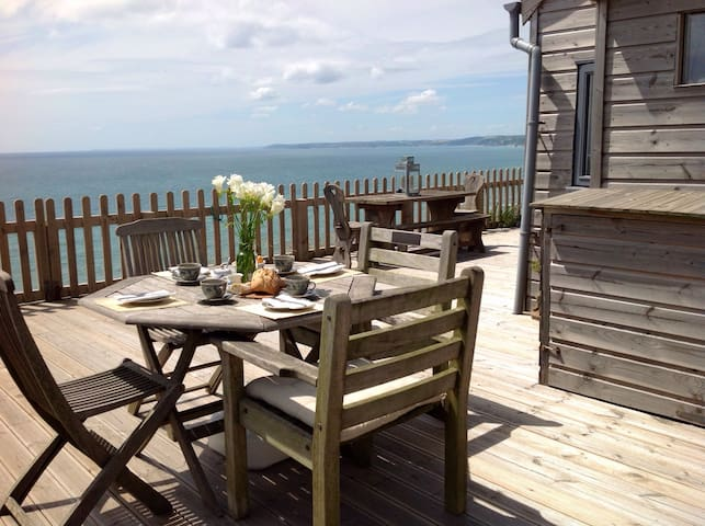 Romantic Cabin Panoramic Sea Views - Whitsand Bay
