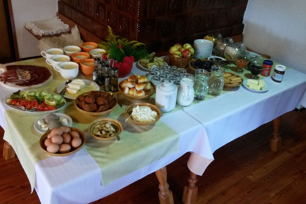 Breakfast on farm is possible by previous advance. Price 8,00 € per person.