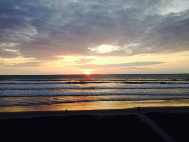 Beautiful beach and amazing sunsets.