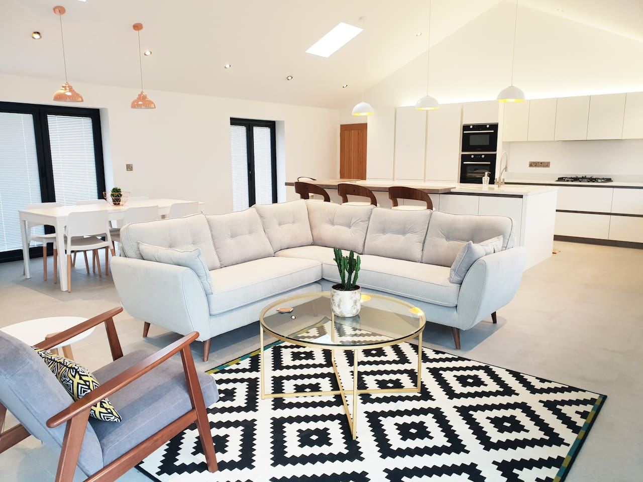 Modern and spacious open plan living area