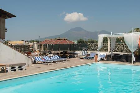 Camera matrimoniale vista Vesuvio - Scafati