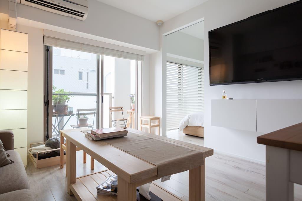 Living Room with en-suite room