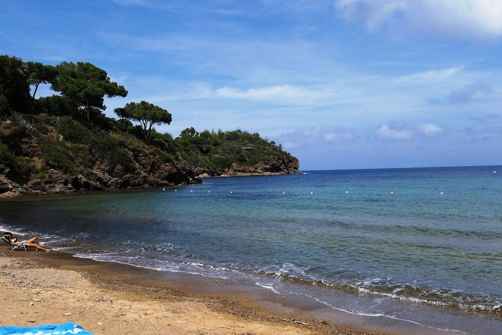 La spiaggia di fronte a casa