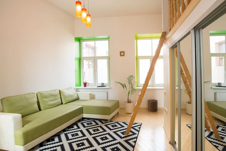 Exceptionally cozy design studio! - Riga - Appartement