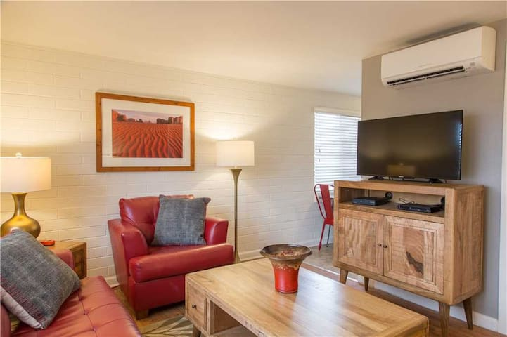 Bring Your Pet Along to this Cheerful Downtown Condo! - Purple Sage Flats #1