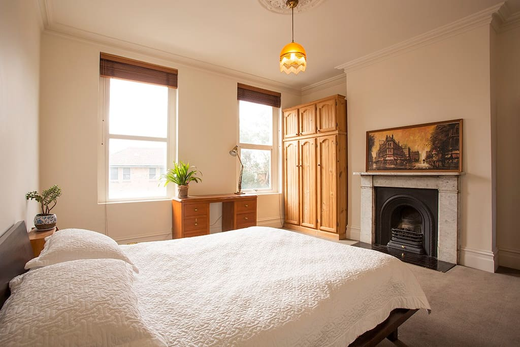This is the main bedroom upstairs facing north so lovely natural light! its a big room too 5m by 4.5m ...