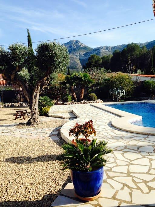 Fresh water private pool. Cleaned every week,