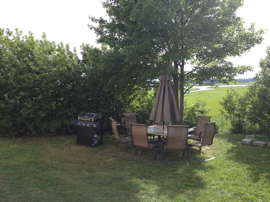 Outside Patio Furniture, Gas Grill, Fire Pit