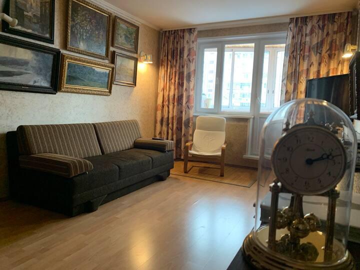Уютная квартира в тихом районе в 25 мин от центра