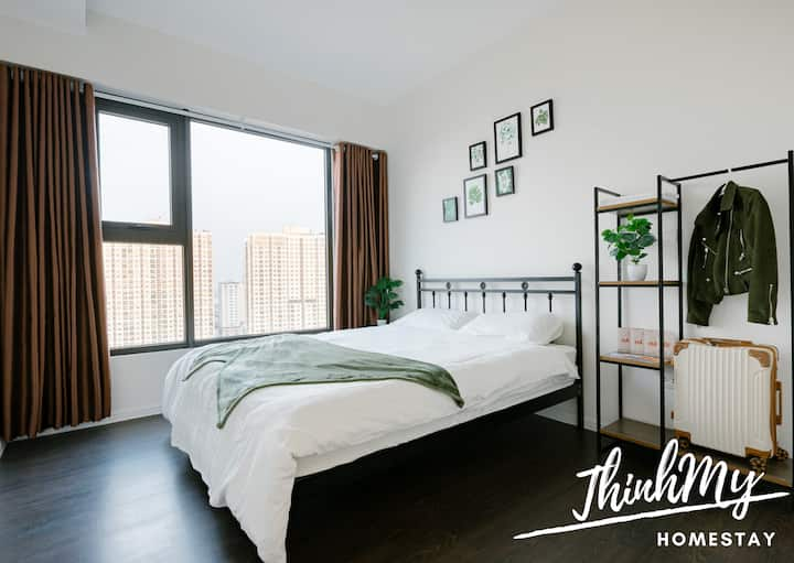 [ThinhMy home] Stunning panoramic Hanoi view room