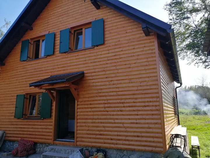 Holiday house Laura - wooden house: Dreznica, Continental Croatia