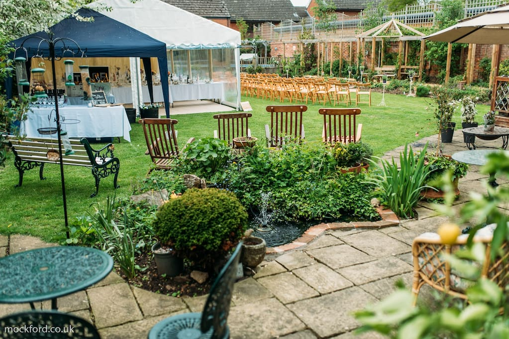 Private garden set up for your wedding