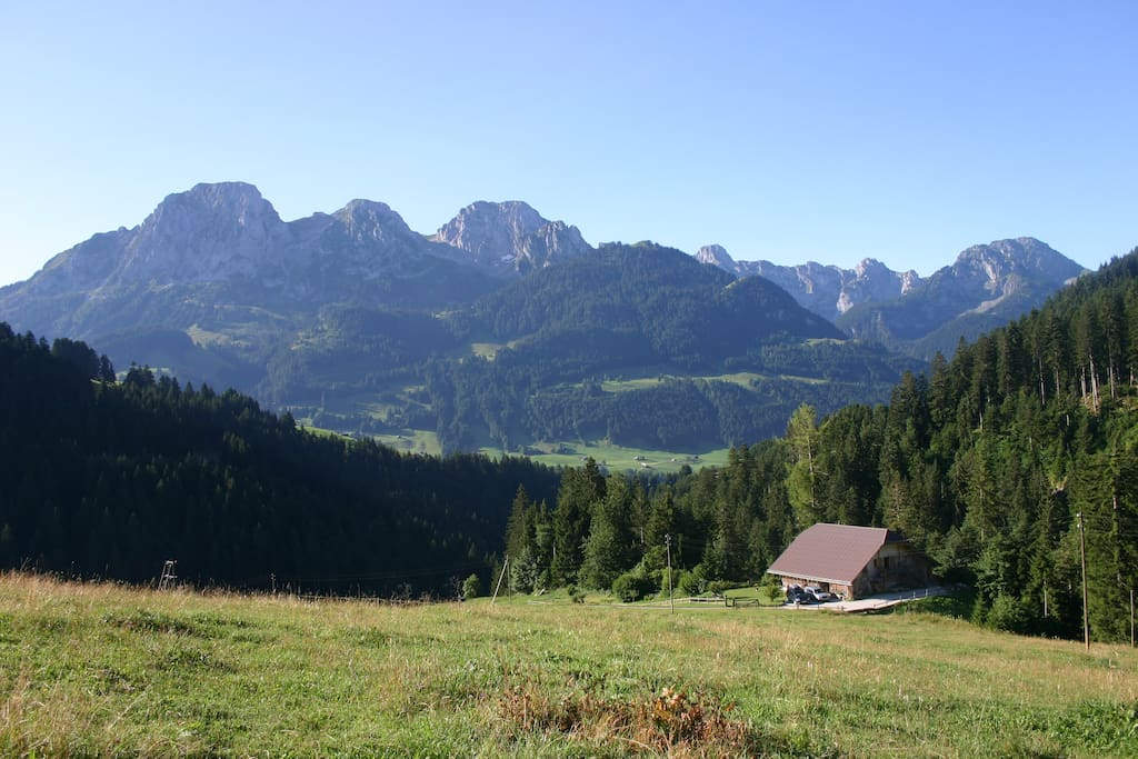 View from above the chalet
