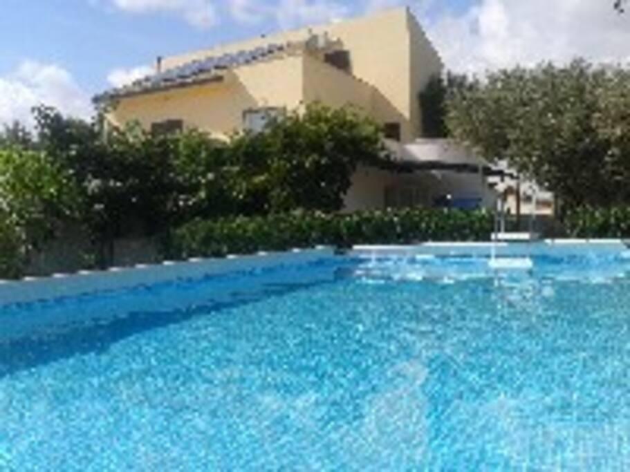 piscina fuoriterra a disposizione degli ospiti