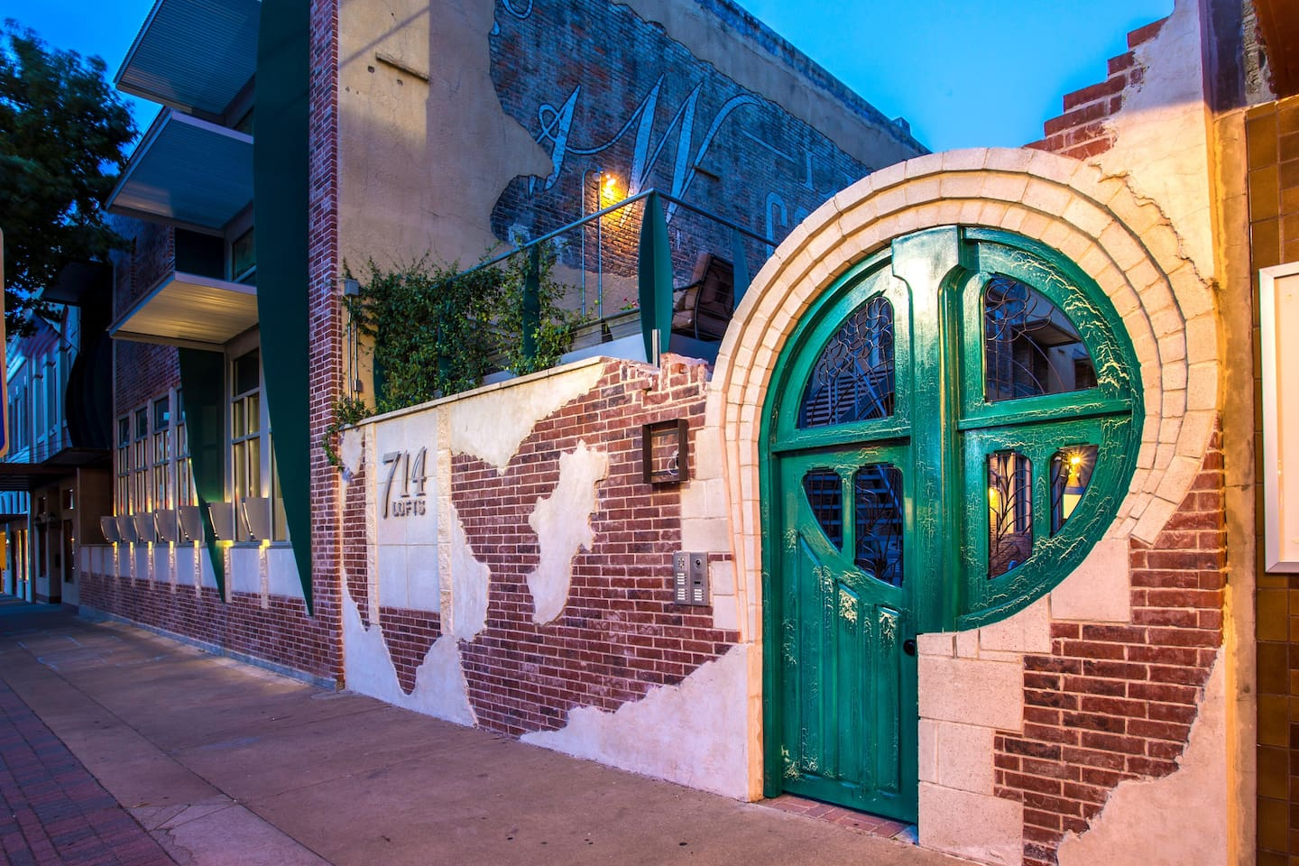 The very famous Green Door, welcomes guests to Funky Town!