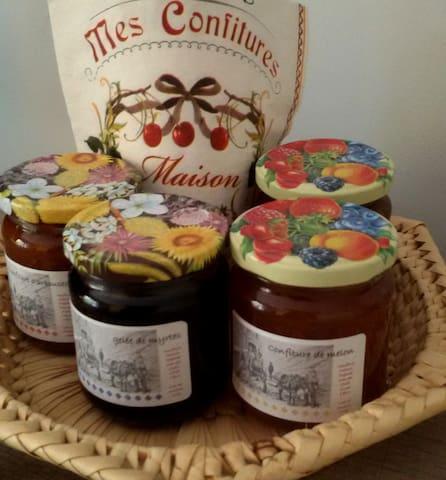 Mes confitures maison aux parfums méditerranéens : figues, clémentines, myrtes, arbouses etc ...