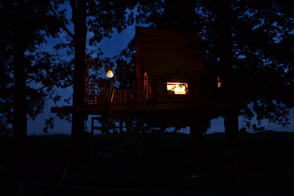 romantisch bij nacht.