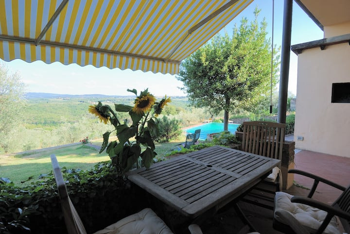 Apartment on winefarm in Chianti