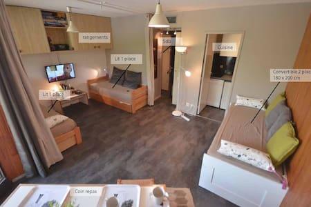 Beau studio confortable et au calme - Fontcouverte-la-Toussuire - Apartment - 1