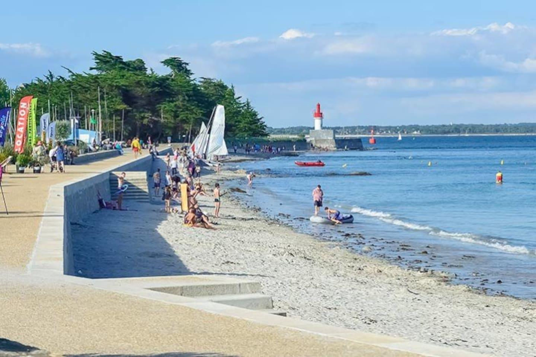 La plage à 150 mètres de l'appartement Das Hausstrand, 150 M von der Wohnung