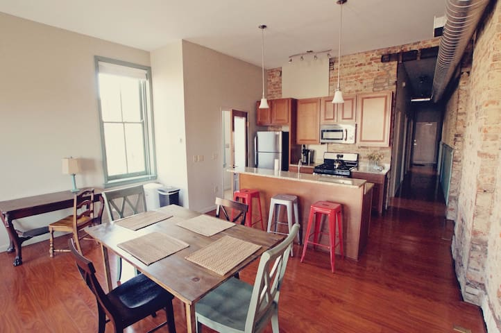 Huge condo in heart of OTR. 2 BR/2 BATH. 12th&Clay