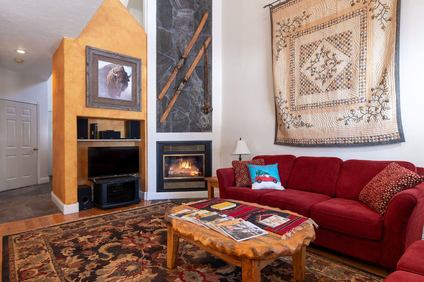Main Floor Living Room with propane fireplace